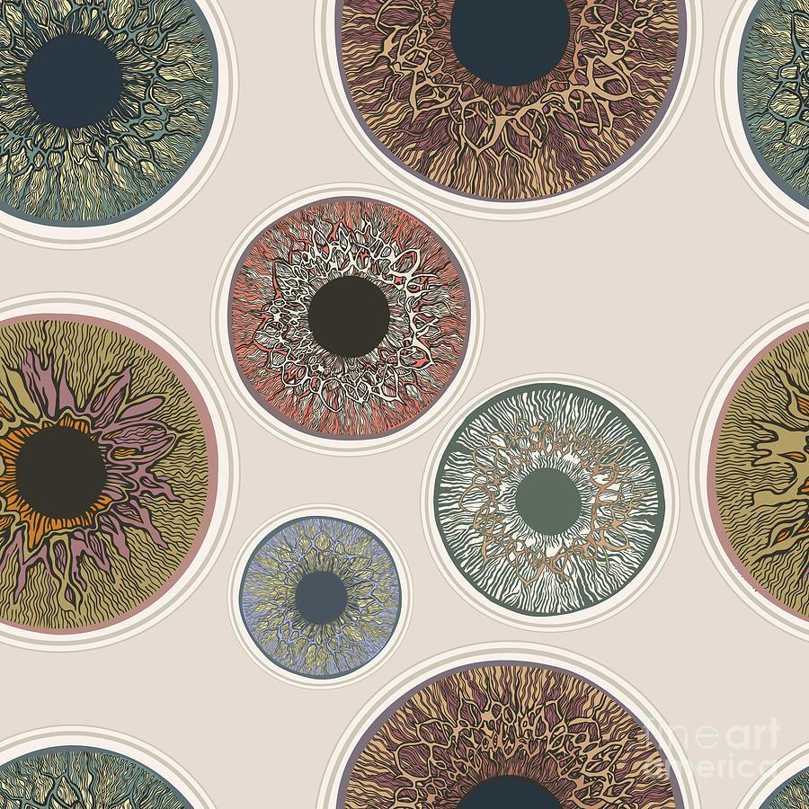 Color Digital Art - Iris Seamless Pattern. V1.0 by Ryger