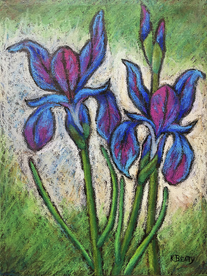Irises in Bloom by Karla Beatty