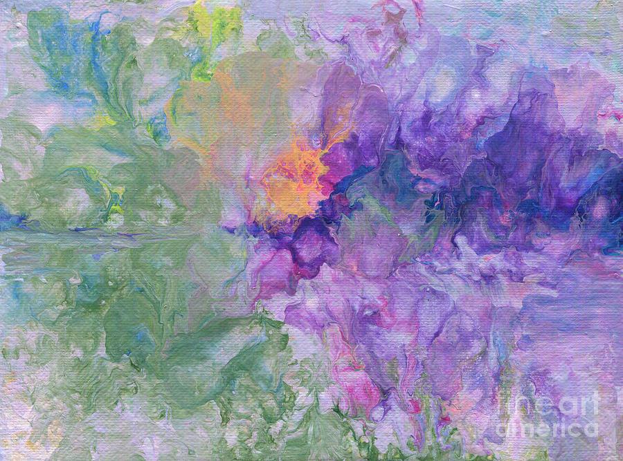 Irises in the Garden by Marlene Book
