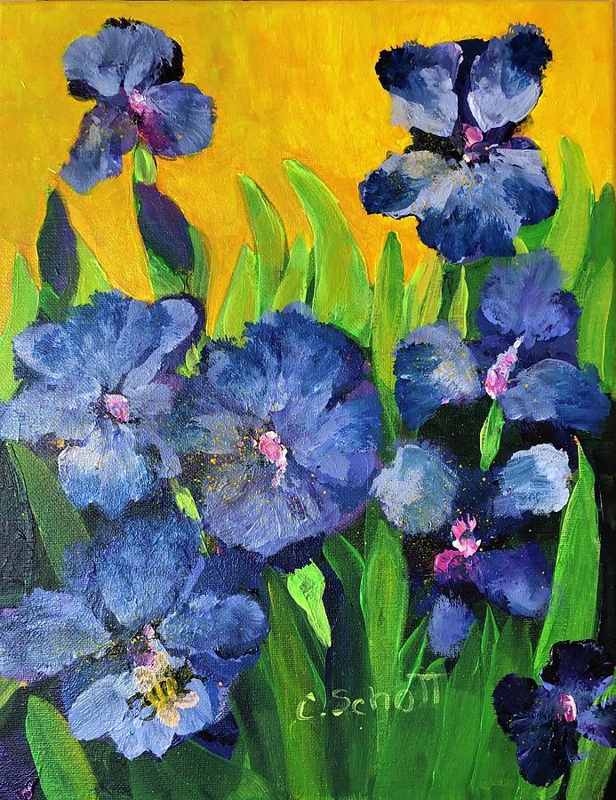 Irises In The Sun by Christina Schott