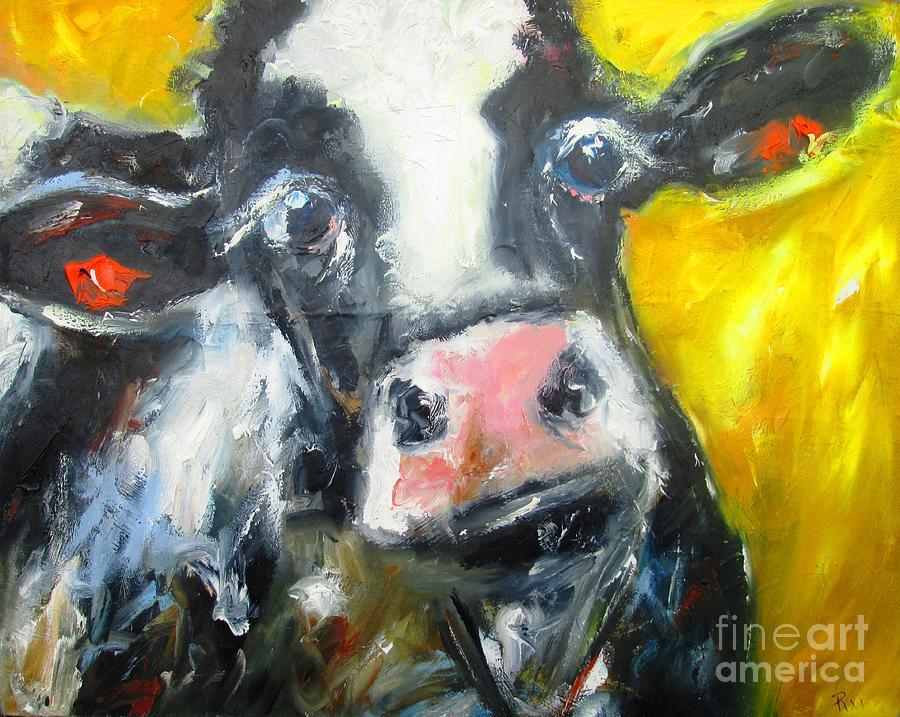 irish cow www.pixi-art.com by Mary Cahalan Lee- aka PIXI