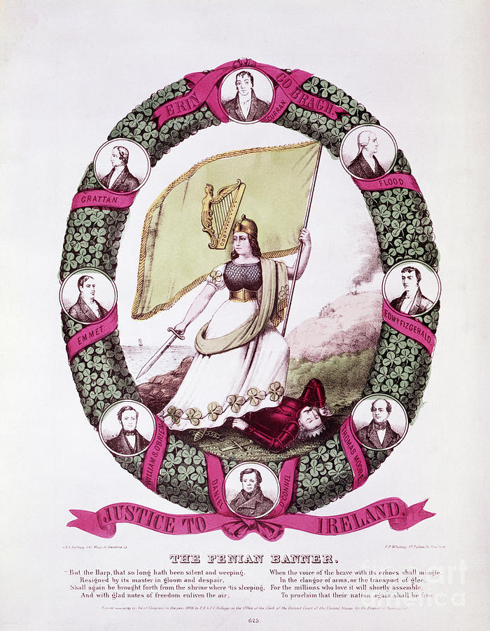 Irish History, The Fenian Banner Photograph by Bettmann