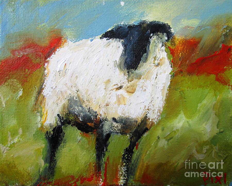 irish sheep by the lakes of connemara  by Mary Cahalan Lee- aka PIXI