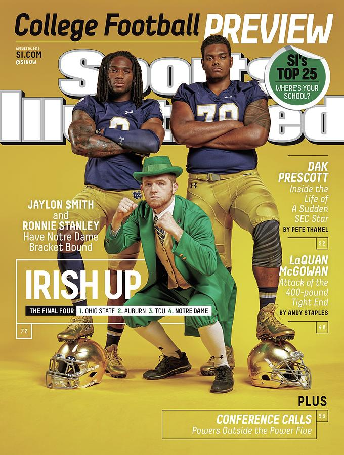 Irish Up 2015 College Football Preview Issue Sports Illustrated Cover Photograph by Sports Illustrated