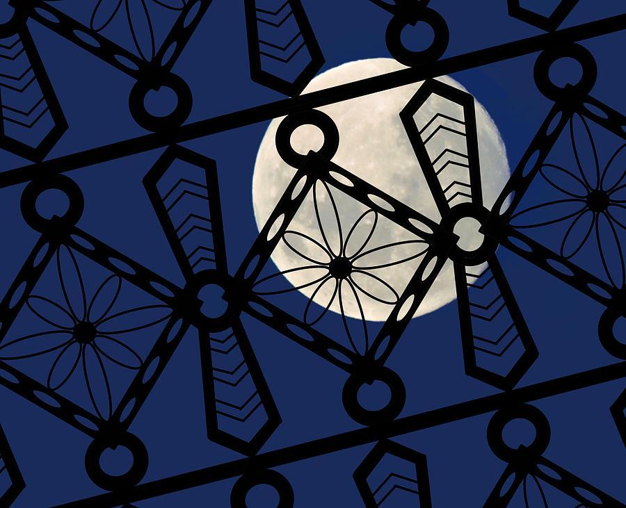 Iron Lattice Blueback Full Moon by Joan Stratton