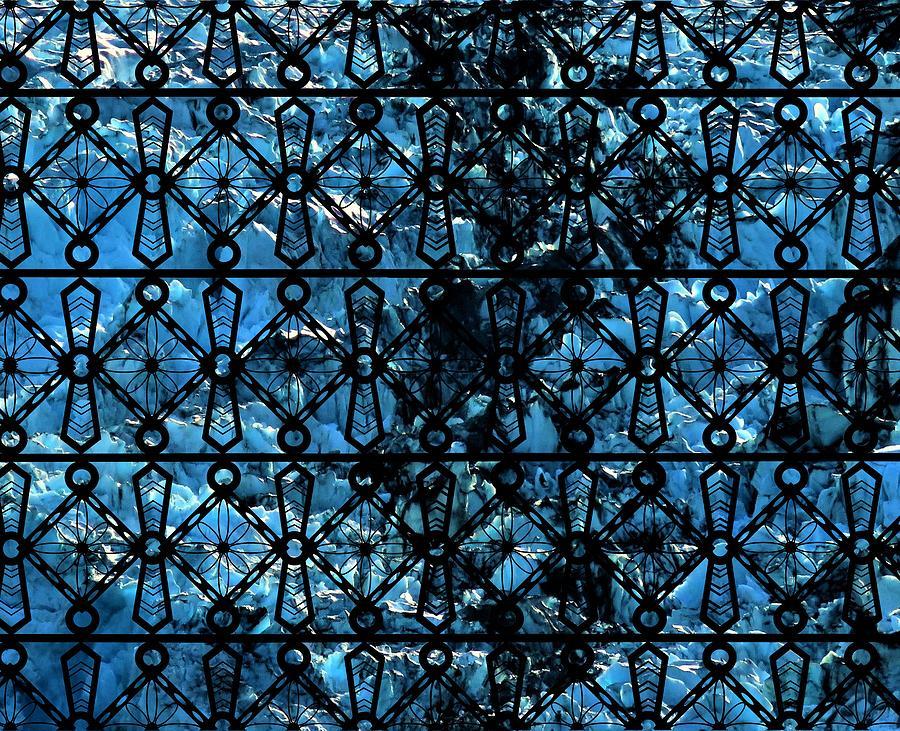 Iron Lattice Pattern Glacier Abstract by Joan Stratton