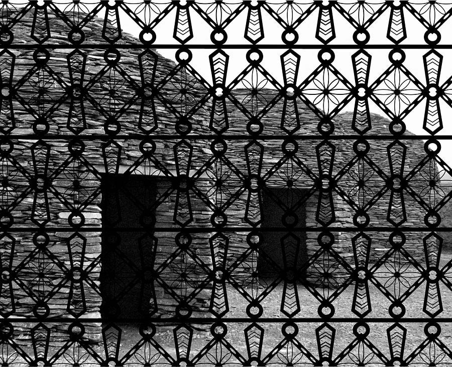 Iron Lattice Pattern Kerry Beehive Huts by Joan Stratton
