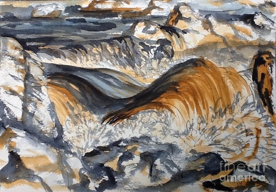 Water Painting - Iron Rich Water And Energy by Tammy Nara