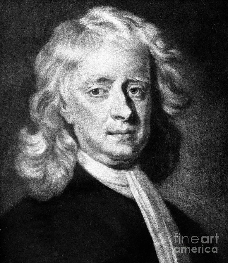 Isaac Newton 1642-1727, English Drawing by Print Collector