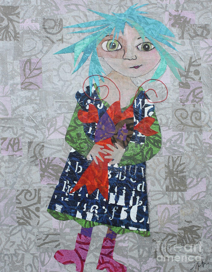 Art Collage Mixed Media - Isabelle  by Janyce Boynton