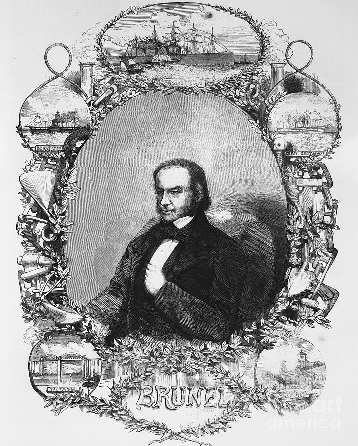 Isambard Kingdom Brunel, Civil Drawing by Print Collector