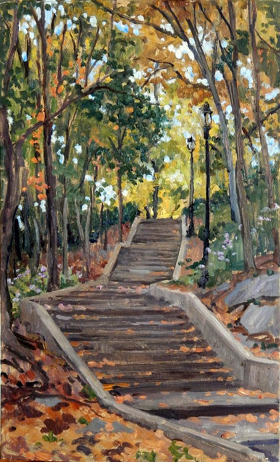 Isham Park Steps New York Autumn by Thor Wickstrom