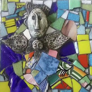 Tile Mixed Media - Ishtar by ILona Halderman