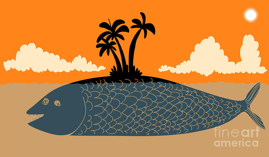 Palm Digital Art - Island Fish by Complot