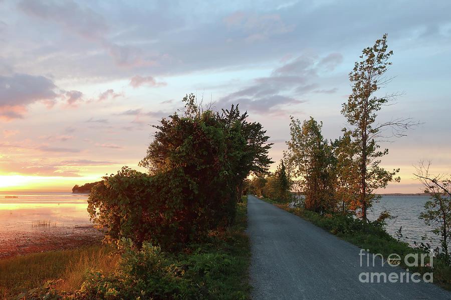 Vermont Photograph - Island Line Trail Sunset via Colchester by Felipe Adan Lerma