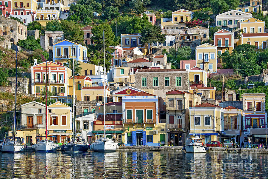 Symi Photograph - Island Of Symi, Greece by Delphimages Photo Creations