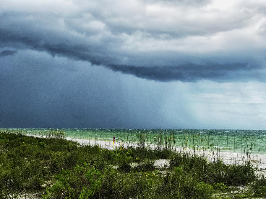 Beach Photograph - Island Rain by Joseph Yarbrough