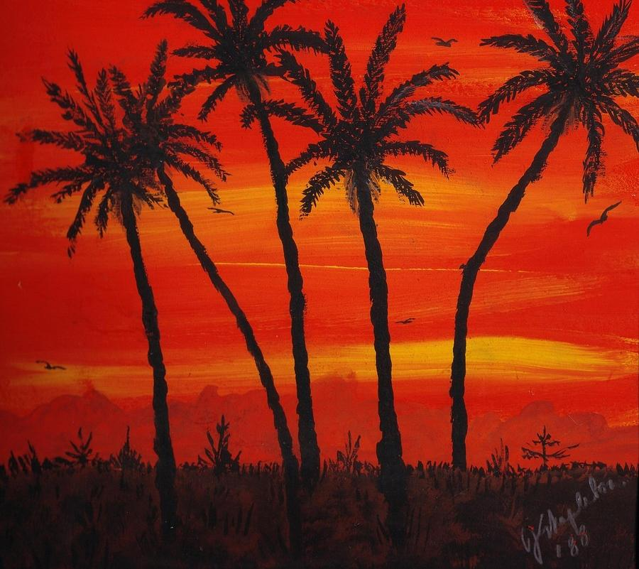 Stratton Painting - Island Sunset by Joan Stratton