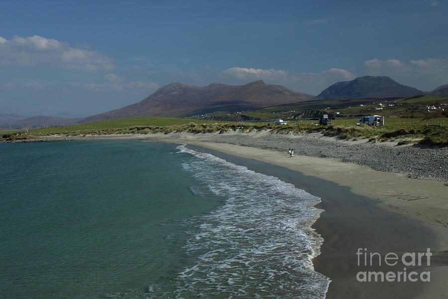 Island view beach Renvyle by Peter Skelton