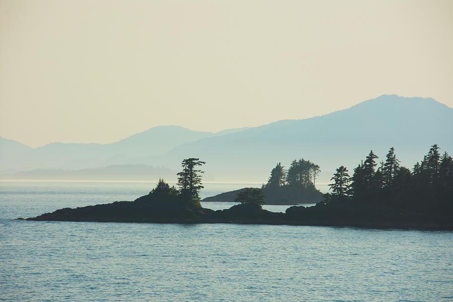 Islands in Fog Inside Passage Alaska by Yulia Kazansky