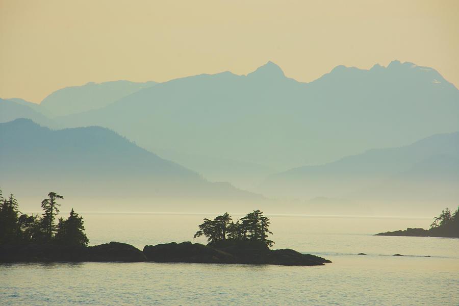 Islands in Fog Inside Passage Ketchican by Yulia Kazansky