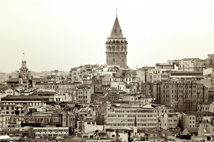 Istanbul. Galata Tower B&w Photograph by Photo By Bernardo Ricci Armani