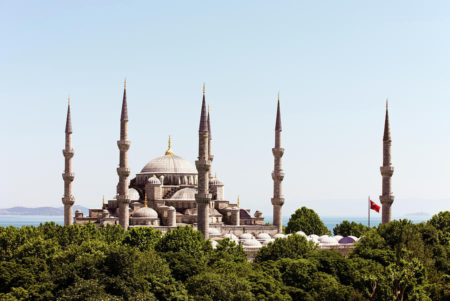 Istanbul,blue Mosque And Bosphorus Photograph by Gary Yeowell
