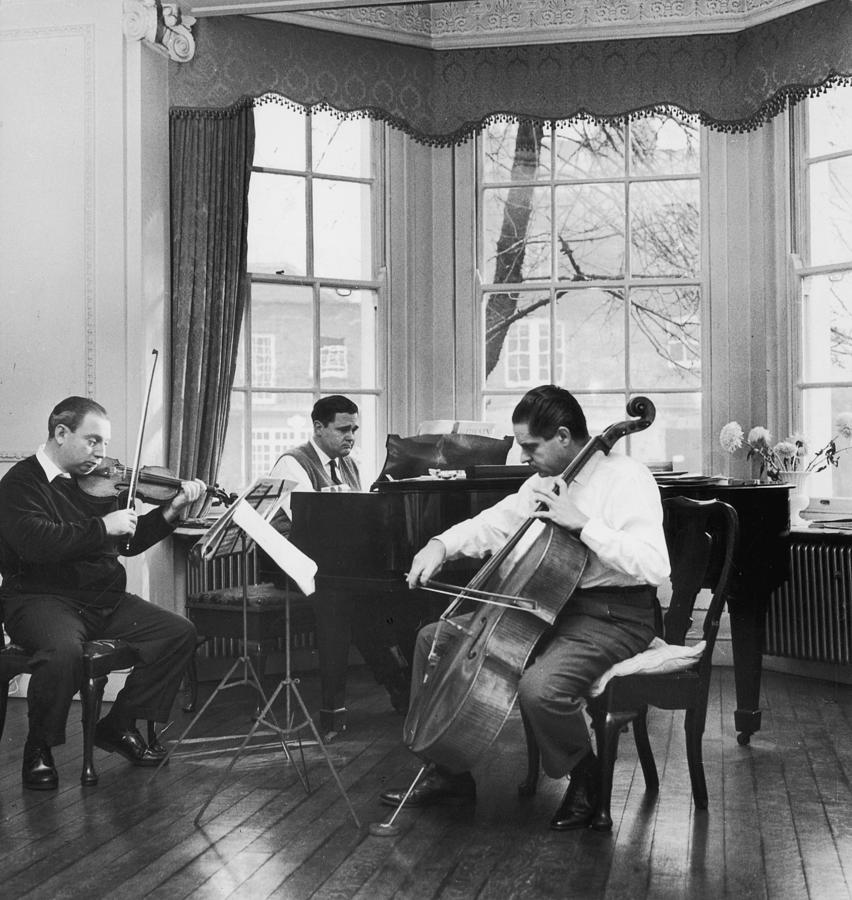 Istomin-stern-rose Trio Photograph by Erich Auerbach