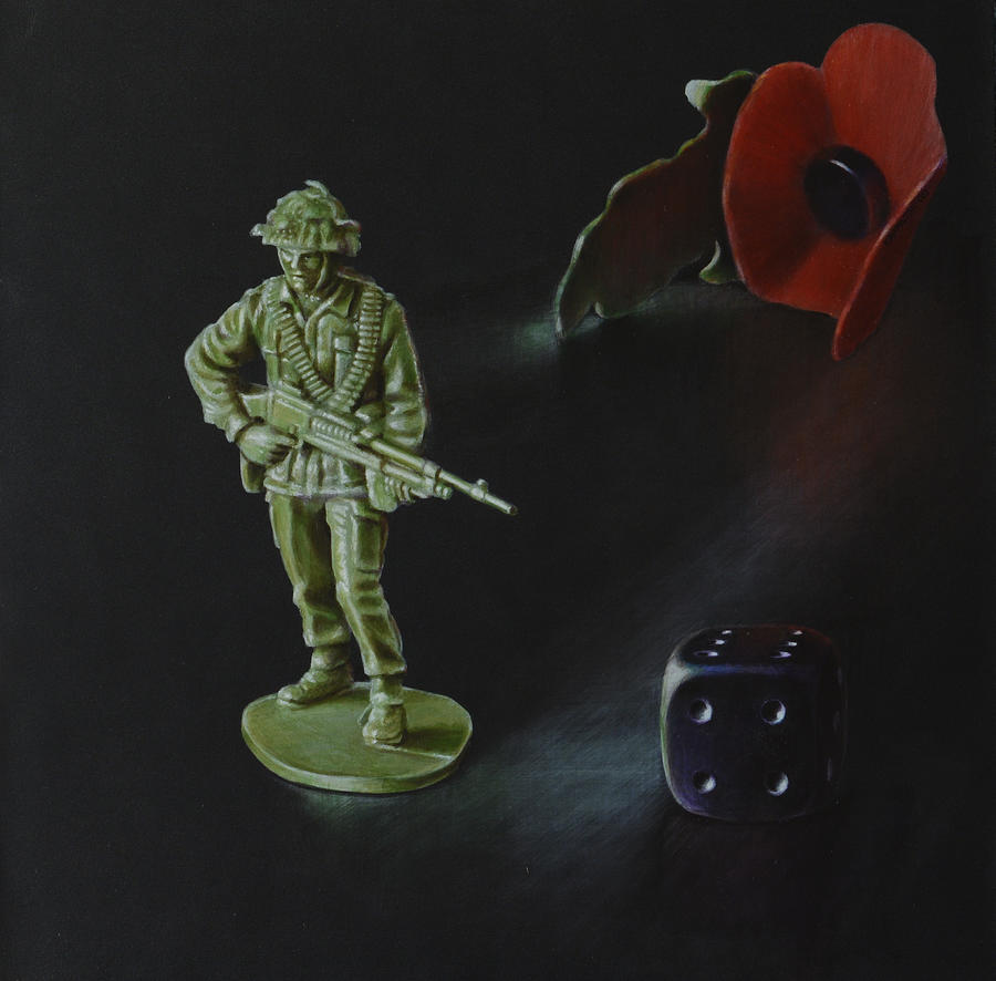 Poppy Painting - It is not a Game by Karl Hamilton-Cox