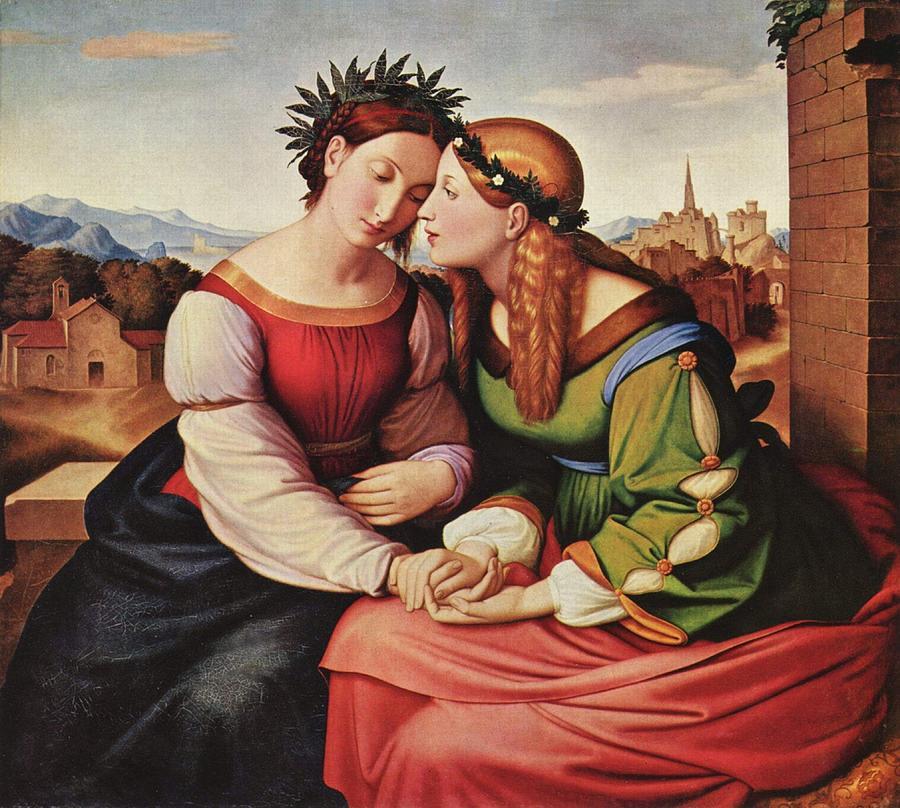 Italia und Germania by Johann Friedrich Overbeck