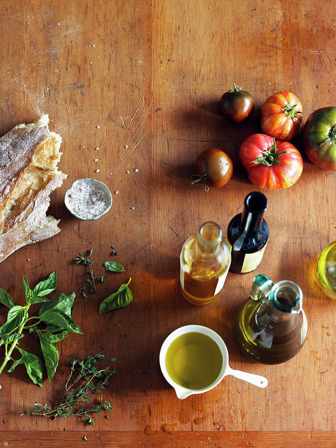 Italian Cooking Ingredients On A Photograph by Maren Caruso