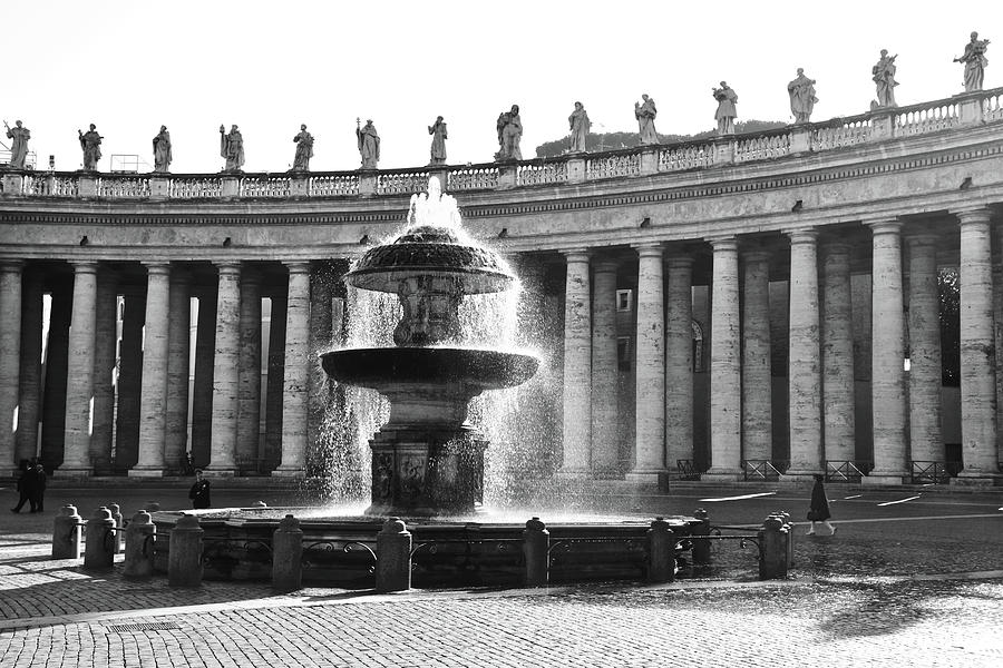 Fountain, St. Peter's Square, Rome by Jim White Napaman