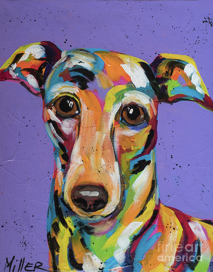 Tracy Miller Painting - Italian Greyhound by Tracy Miller
