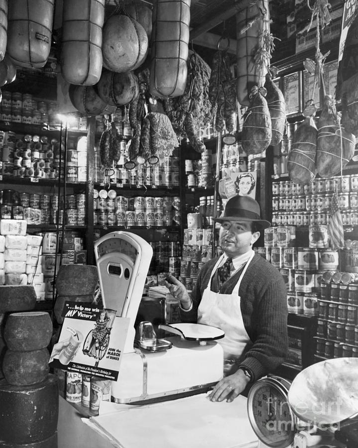 Italian Grocery Store At Mulberry St Photograph by Bettmann