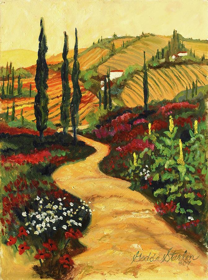 Italian Landscape Painting By Gedda Runyon Starlin