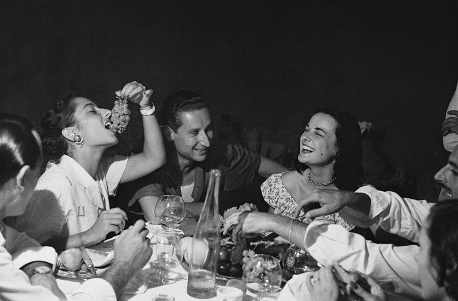 Italian Party Photograph by Bert Hardy