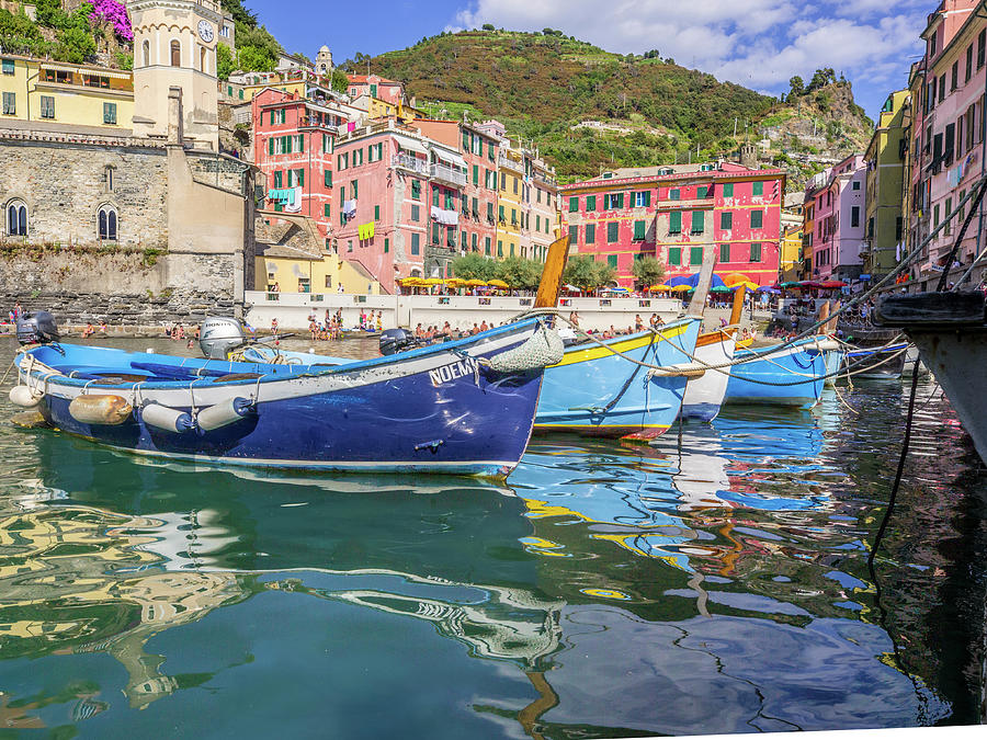 Architecture Photograph - Italian Riviera Old Fashion Fishing by Guy Midkiff