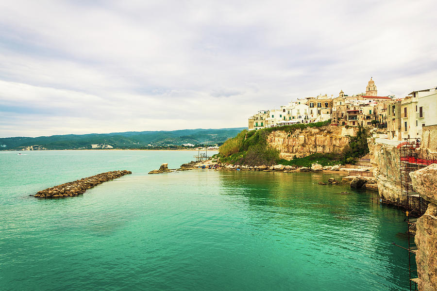 Italian Sea Village Of Vieste, Apulia Photograph by Zodebala