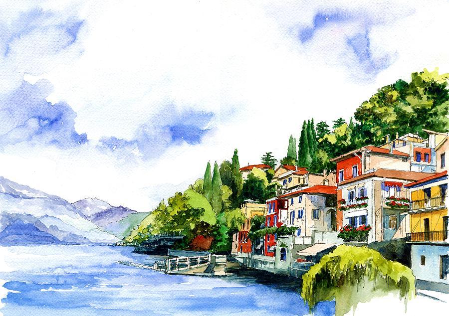 Italy Painting - Italian Summer Vacation by ArtMarketJapan