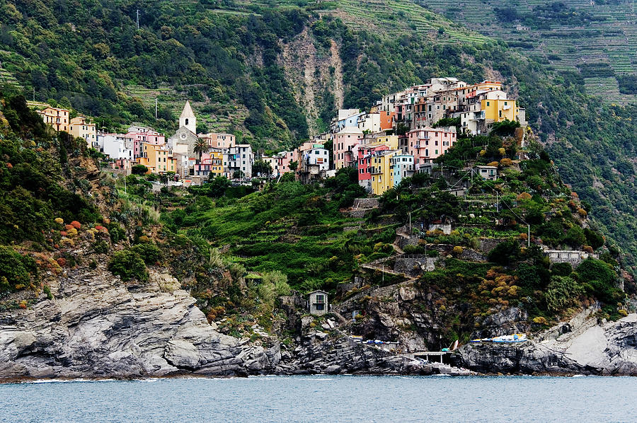 Italy, Liguria, Corniglia, View From Photograph by Jeremy Woodhouse