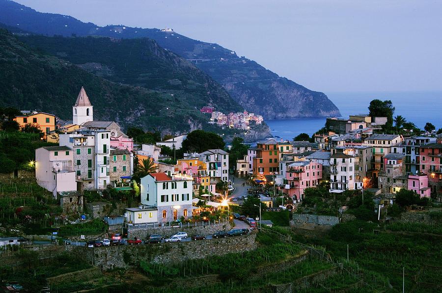 Italy, Liguria, Corniglia With Manarola Photograph by Jeremy Woodhouse