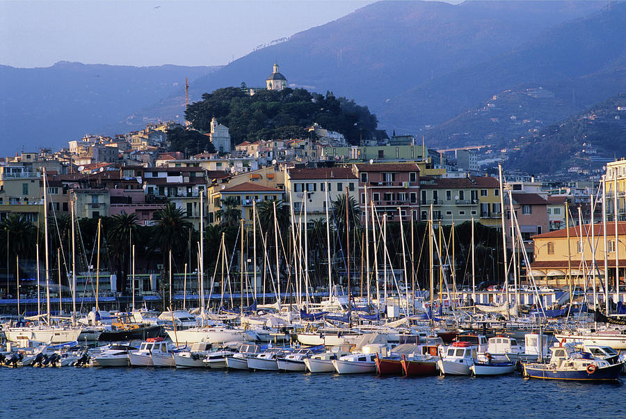 Sailboat Photograph - Italy, Liguria, Sanremo, Yachts In by Vincenzo Lombardo