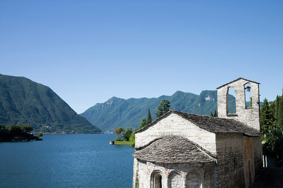 Italy, Lombardy, Lake Como, Old Church Photograph by Buena Vista Images
