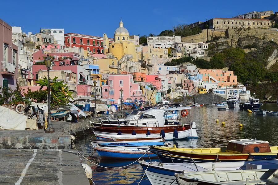 Italy Procida Island Marina Corricella Naples Bay 3 Painting By Ana Maria Edulescu