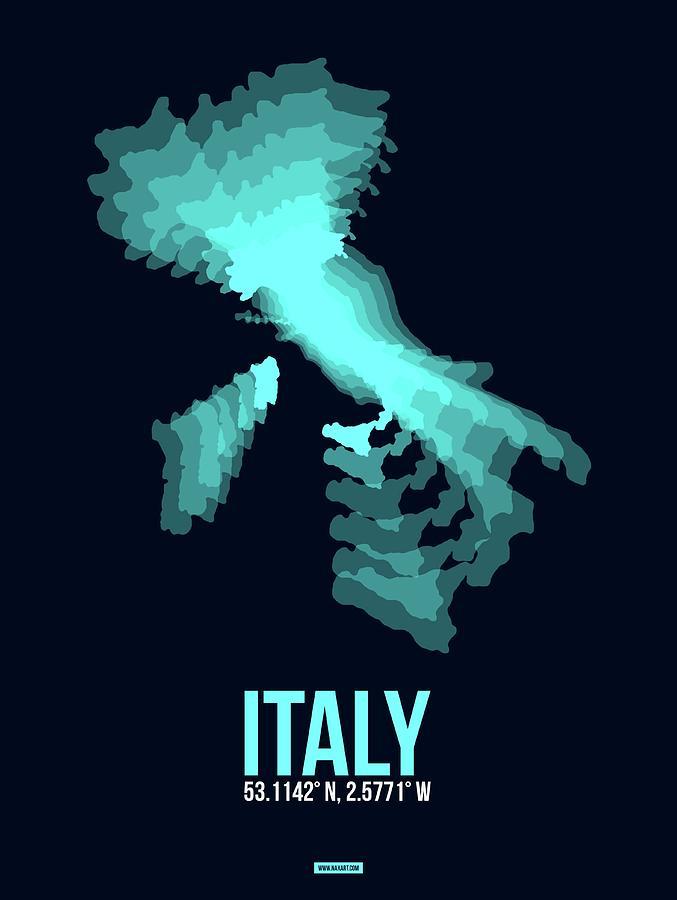 Italy Pyrography - Italy Radiant Map 1 by Naxart Studio