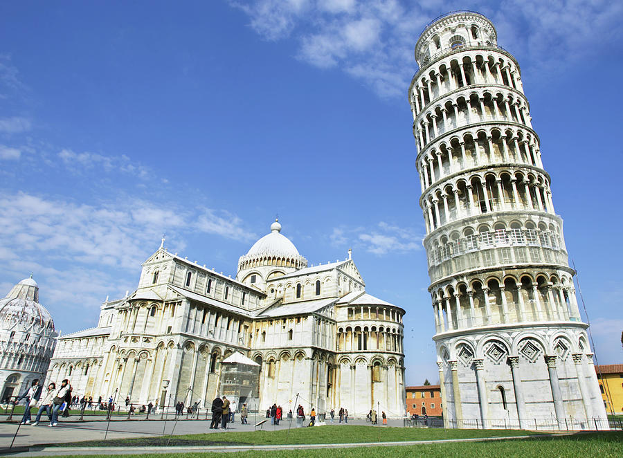 Italy, Tuscany, Leaning Tower Of Pisa by Alexander Hassenstein