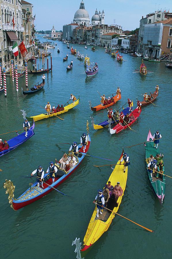 Italy, Veneto, Venise, Regatta Storica Photograph by Tuul & Bruno Morandi