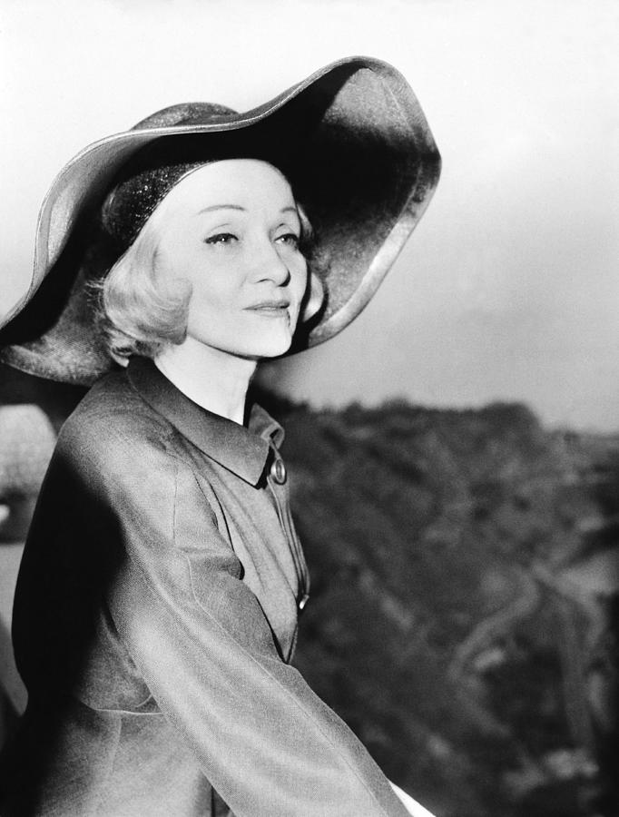 Italy.taormina. Marlene Dietrich At The Photograph by Keystone-france