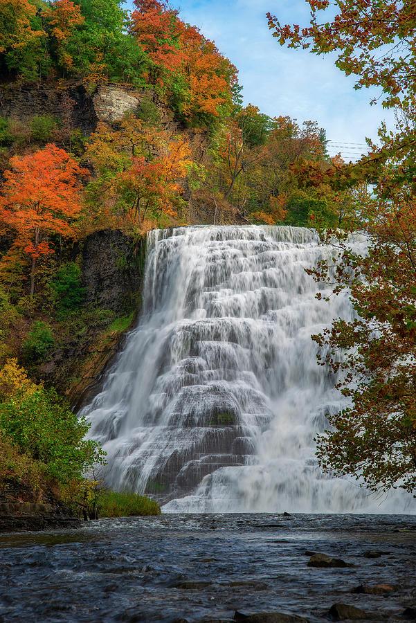 Ithaca Falls Autumn by Mark Papke