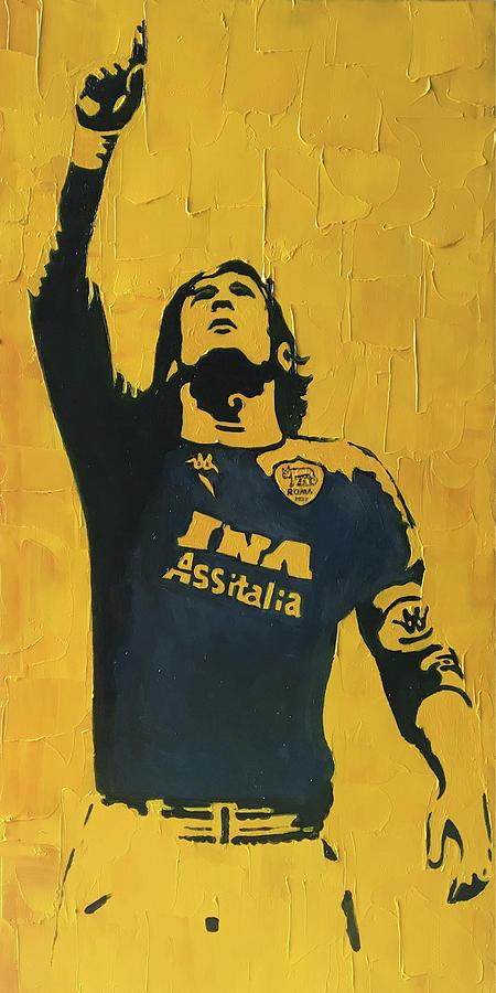 Soccer Painting - Itlay Roman club soccer player Francesco Totti by Enxu Zhou